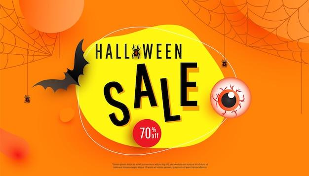 Banner-vorlage für halloween-verkaufsaktionen