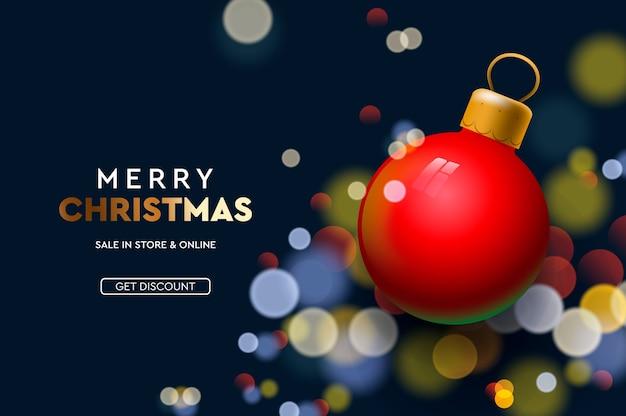 Banner vorlage für weihnachtsverkauf.