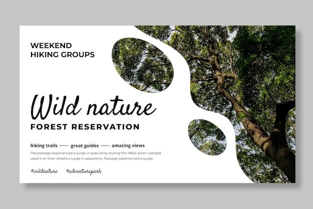 Banner-vorlage für wilde natur