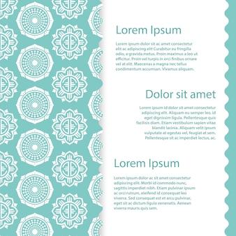 Banner vorlage mit abstrakten asiatischen floralen elementen