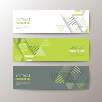 Banner vorlage mit abstrakten dreieck muster hintergrund