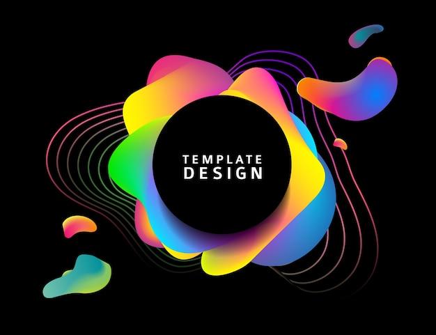 Banner vorlage mit abstrakten elementen.