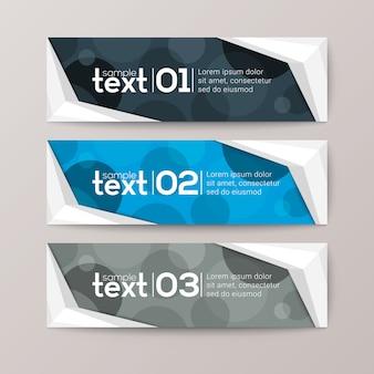Banner vorlage mit abstrakten kreis muster hintergrund