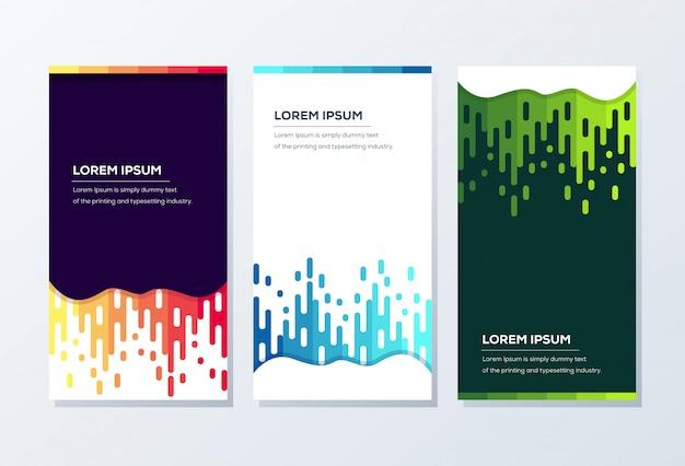 Banner-vorlage. präsentation und broschüre