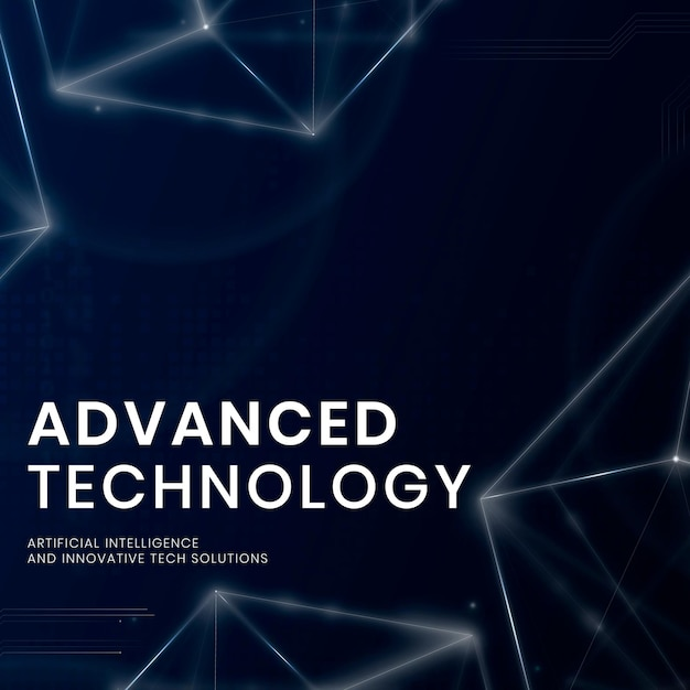 Banner-vorlagenvektor der fortschrittlichen technologie mit digitalem hintergrund