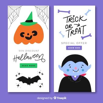 Banner web für halloween-vorlage