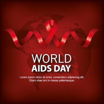 Banner welt aids day mit band