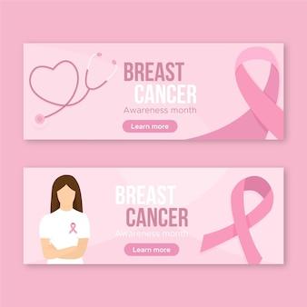 Banner zur aufklärung über brustkrebs