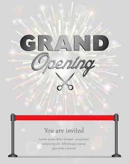 Banner zur feierlichen eröffnung