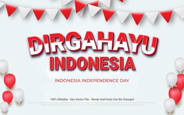 Bannerdesign für den unabhängigkeitstag in indonesien indonesia