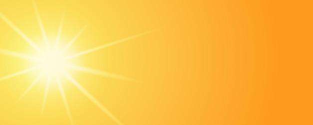 Bannerdesign mit glänzenden sonnenlichtern