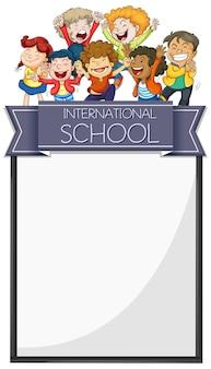 Bannerdesign mit kindern der internationalen schule
