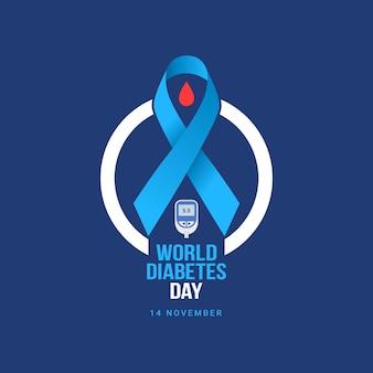 Bannerfeier zum weltdiabetestag 14. november bewusstseinsmonat