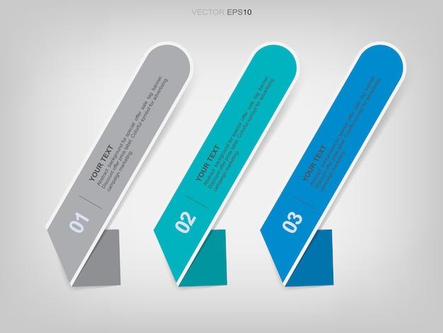 Bannerpapier-tag für geschäftsschablonenhintergrund