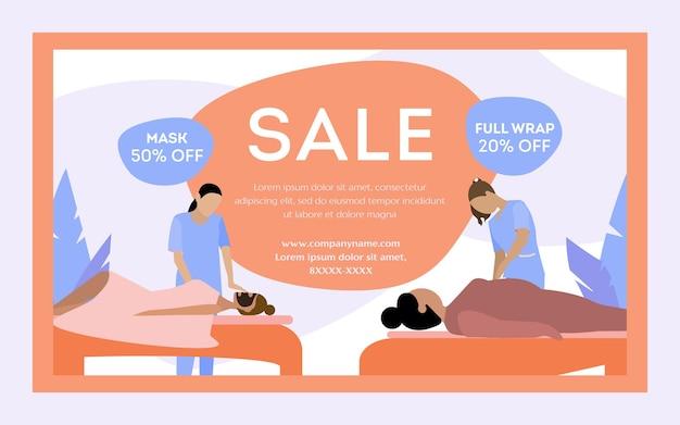Bannerverkauf und rabatt für kosmetische schönheitsbehandlungen