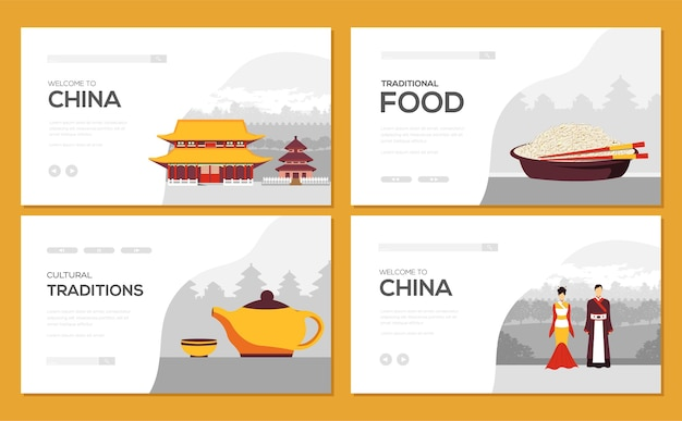 Bannervorlage der asiatischen traditionen, tourismuskonzept