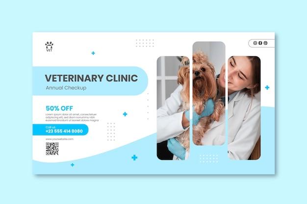 Bannervorlage der veterinärklinik