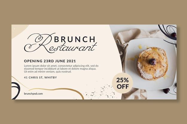 Bannervorlage für brunch-restaurants