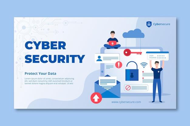 Bannervorlage für cybersicherheit