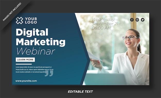 Bannervorlage für digitale agenturen
