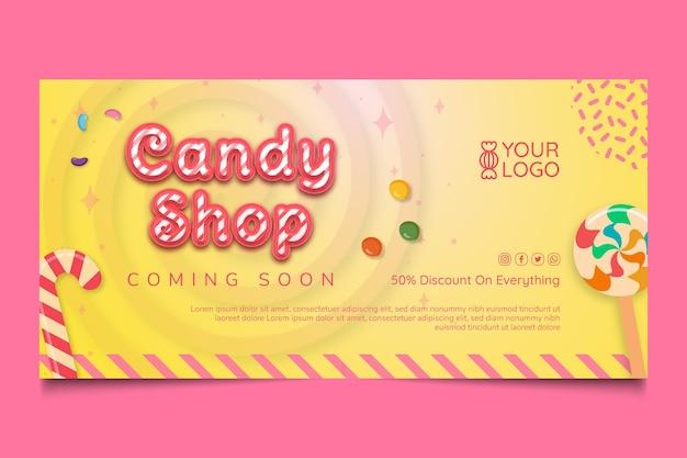 Bannervorlage für süßwarenladen