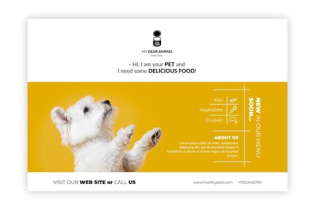Bannervorlage für tierfutter