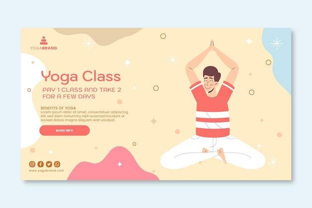 Bannervorlage für yogaklassen Kostenlosen Vektoren