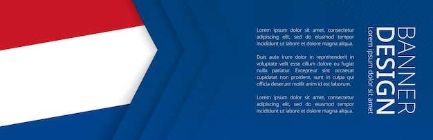 Bannervorlage mit flagge der niederlande für werbung für reisen, unternehmen und andere. horizontales web-banner-design.
