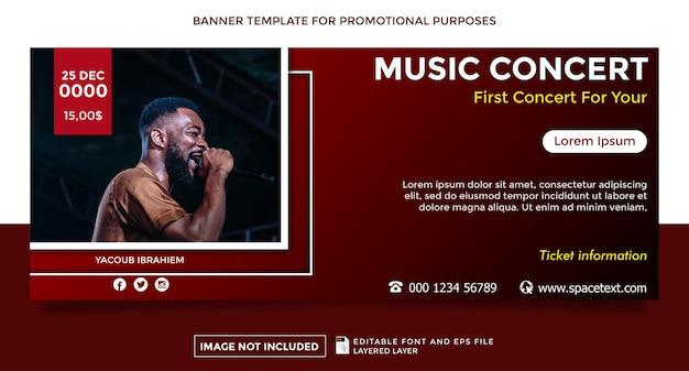 Bannervorlage zum thema musikkonzert
