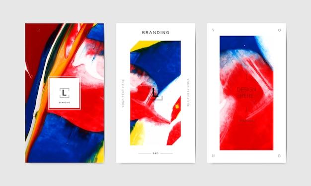 Bannervorlagen für künstlerisches branding