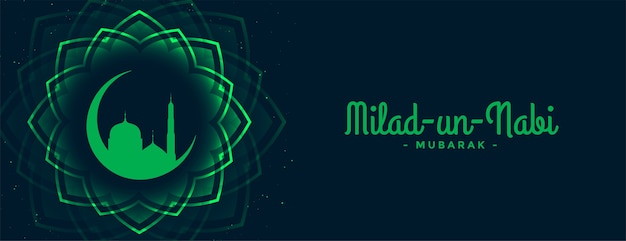 Barawafat milad un nabi festival grünes banner
