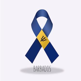 Barbadosflag farbband design