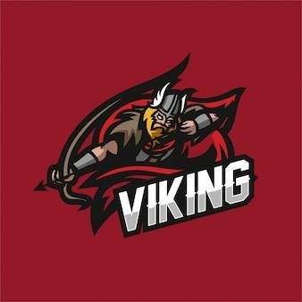 Barbarische ritter wikinger esport gaming maskottchen logo vorlage