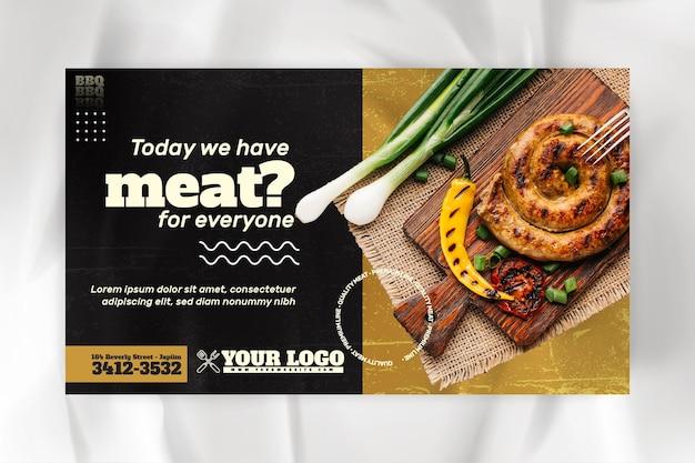 Barbecue banner vorlage