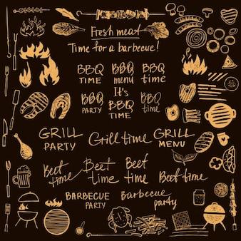 Barbecue-designs sammlung