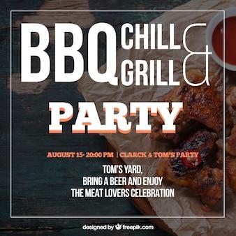 Barbecue einladung, vorlage mit einer schönen typografischen kombination