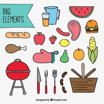 Barbecue element sammlung