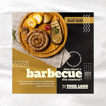 Barbecue flyer vorlage