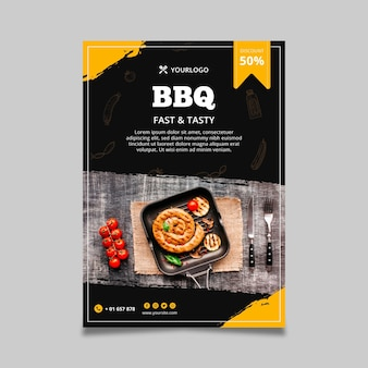 Barbecue flyer vorlage