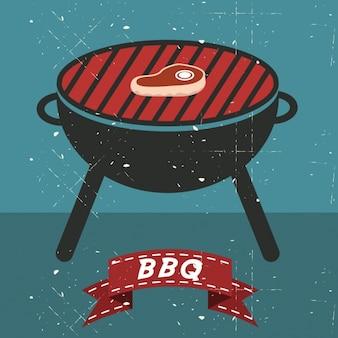 Barbecue hintergrund-design