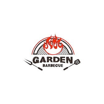 Barbecue-logo-design-illustration