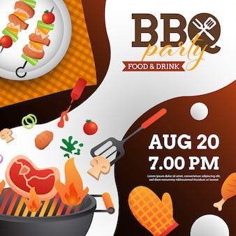 Barbecue-party einladung