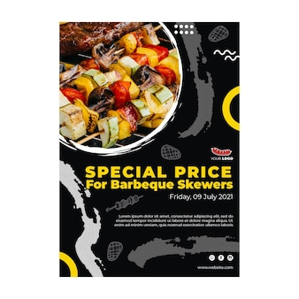 Barbecue-plakatschablone