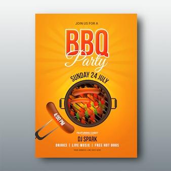 Barbecue-speisekarte oder einladung.
