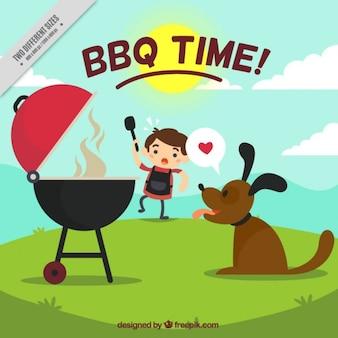 Barbecue zeit hintergrund