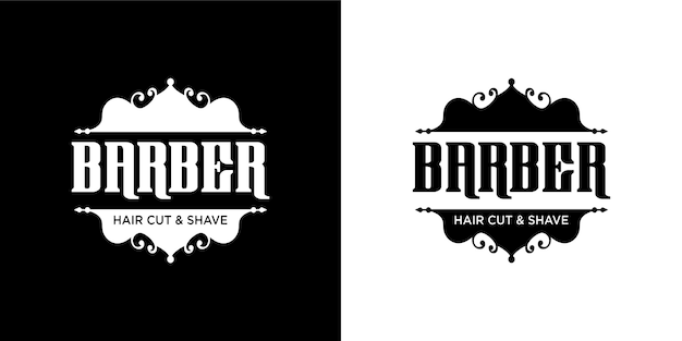 Barber logo set