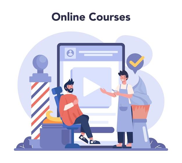 Barber online-service oder plattform