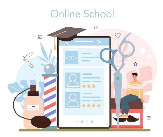 Barber-online-service oder -plattform