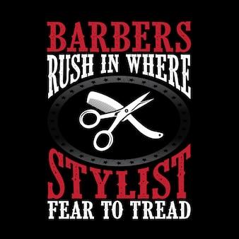 Barber rennen in den stylisten