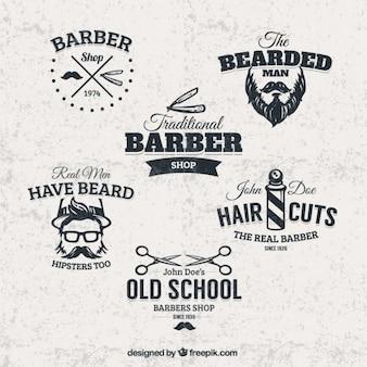 Barber shop abzeichen